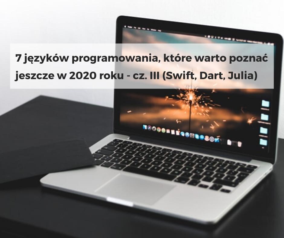 7 języków programowania, które warto poznać jeszcze w 2020 roku – cz. III