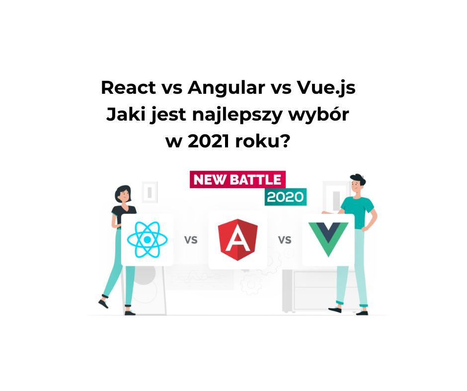React vs Angular vs Vue.js – Jaki jest najlepszy wybór w 2021 roku?