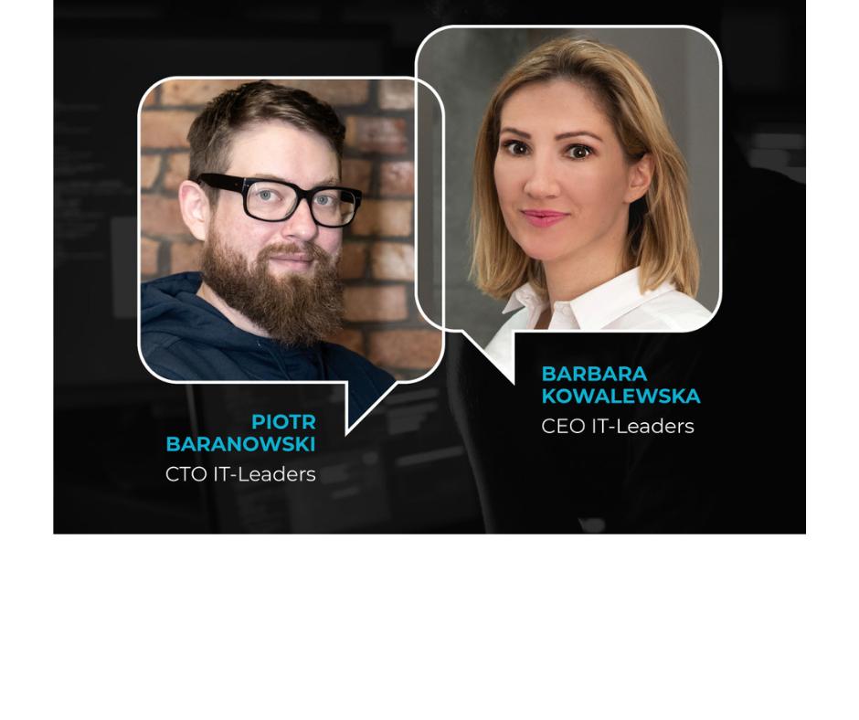 Poznajmy się:) Basia, CEO & Piotr, CTO