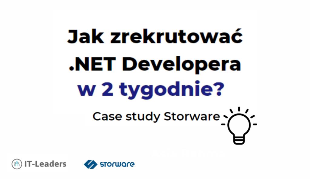 Jak zrekrutować .NET Developera w 2 tygodnie?Case study Storware