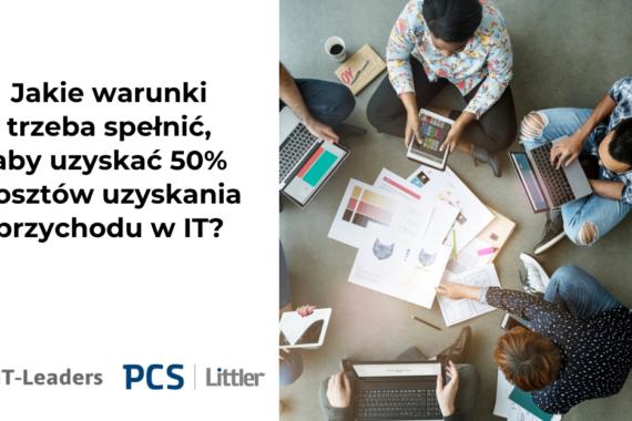 Jakie warunki trzeba spełnić, aby uzyskać 50% kosztów przychodu w branży IT